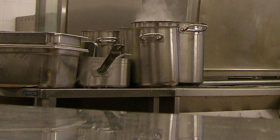 stainless steel commercial kitchen